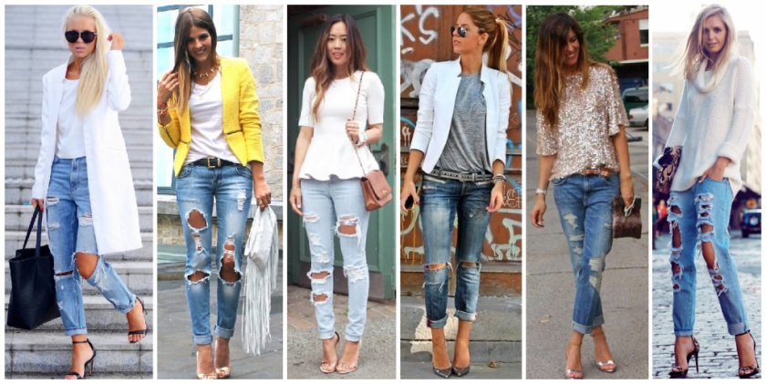 jeans destroyed elegante