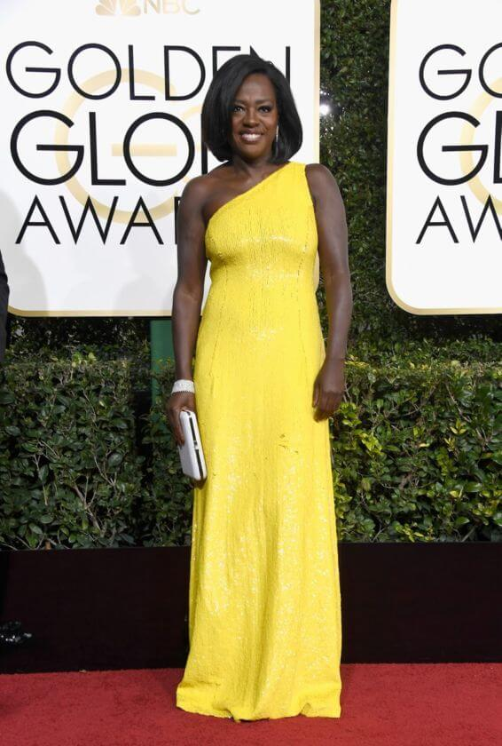 looks do globo de ouro 2017 - Viola Davis